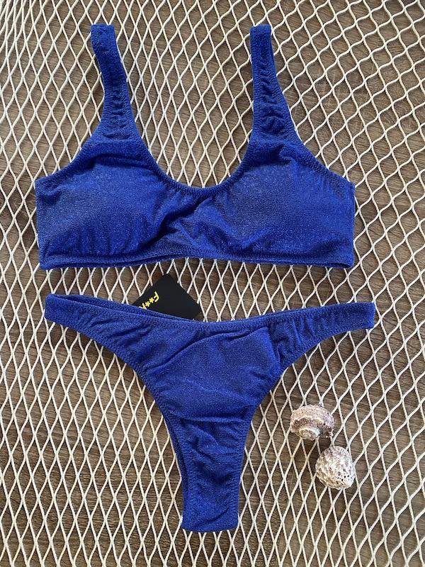 Bikini Top e slip fisso Americano fisso Visionary Dose Effek Taglia S e LG