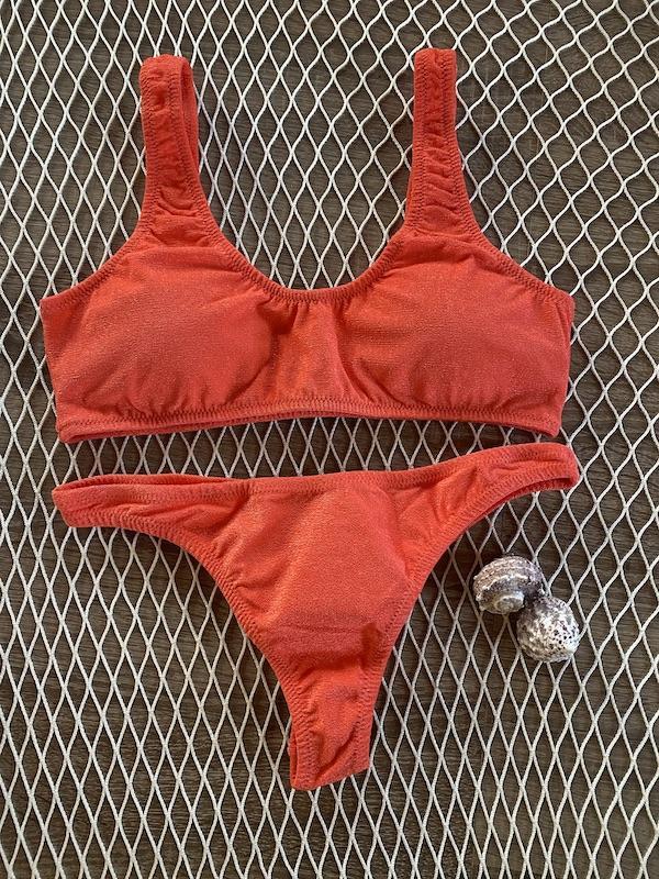 Bikini Top e slip fisso Americano fisso Visionary Dose Effek Taglia LG