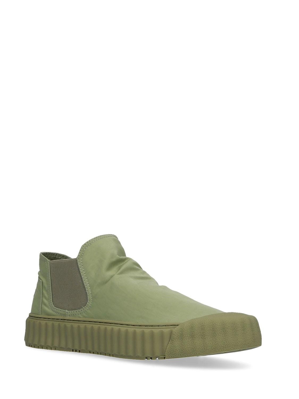 Sneaker Hit verde militare bassa in tessuto Elena Iachi