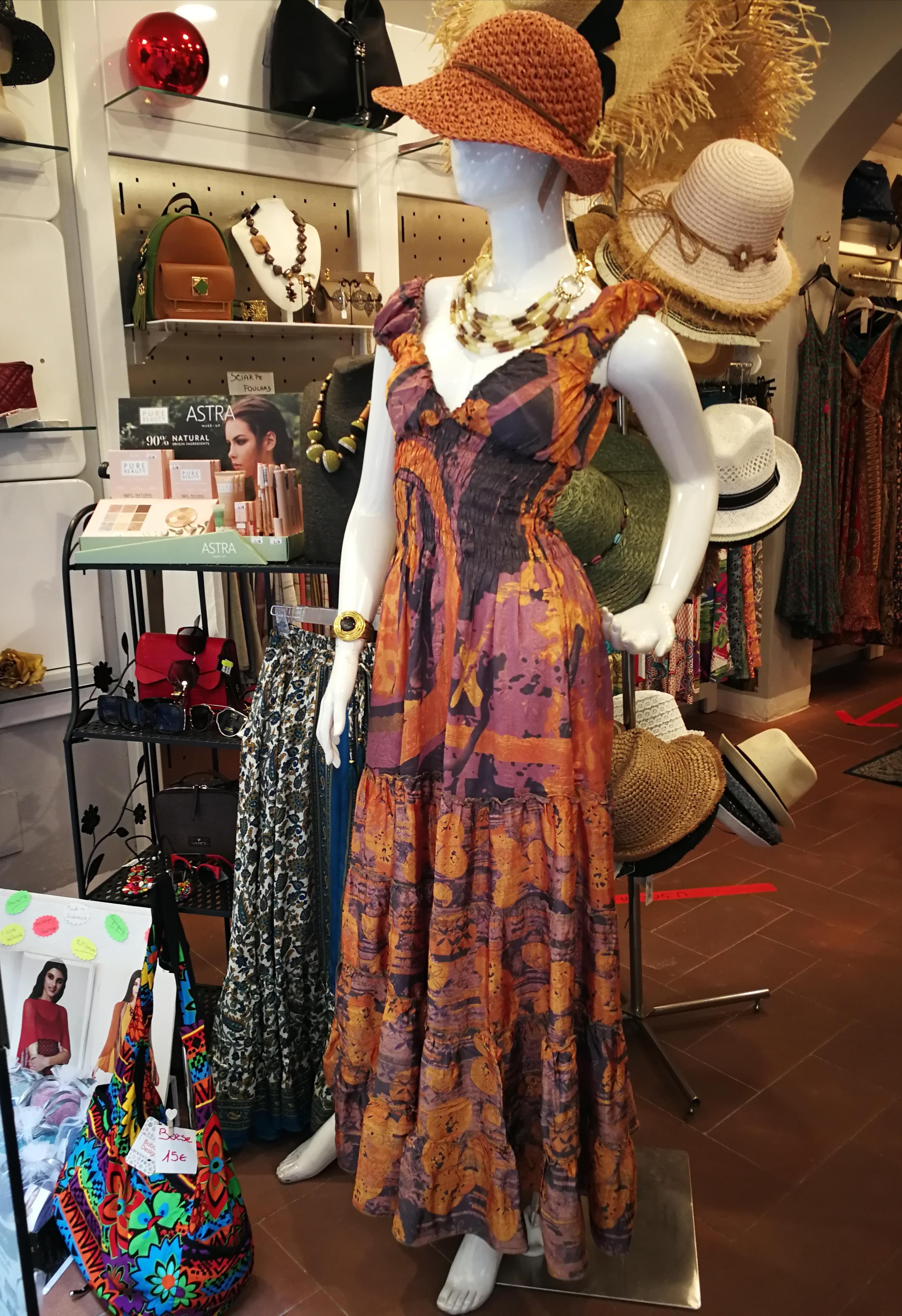 Vestito donna lungo Bohemien Chic | Vendita online abbigliamento etnico