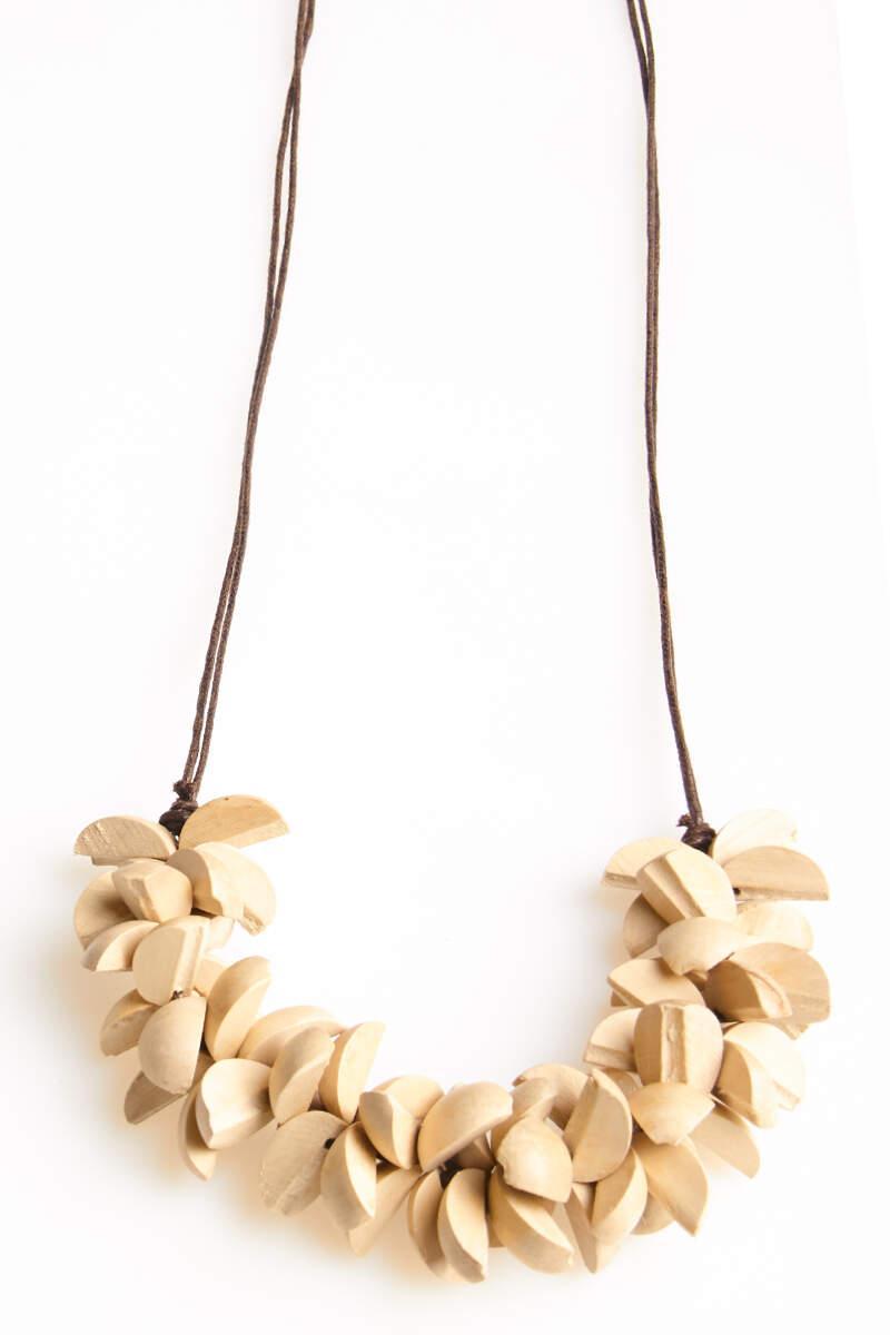 Collana in legno naturale  | Collane etniche online