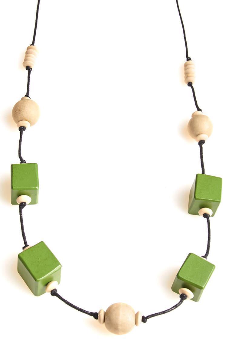 Collana in legno lunga  | Collane etniche online