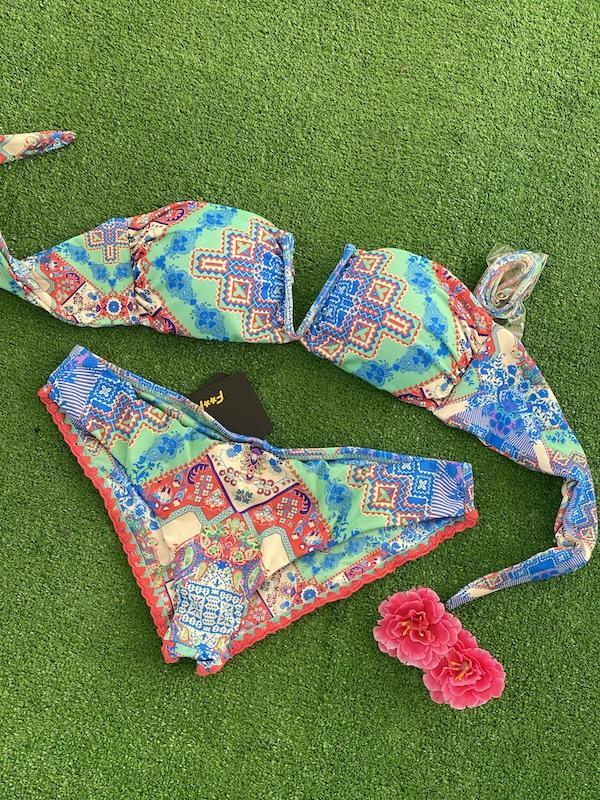 Bikini fascia a V e slip coulotte Venture Effek