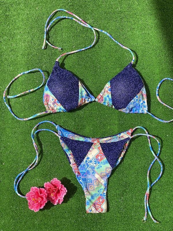 Bikini Triangolo e slip laccetto brasiliano regolabile Venture Effek