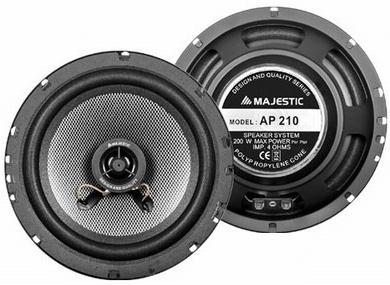 New Majestic AP-210 altoparlante auto 1-via 200 W Ovale