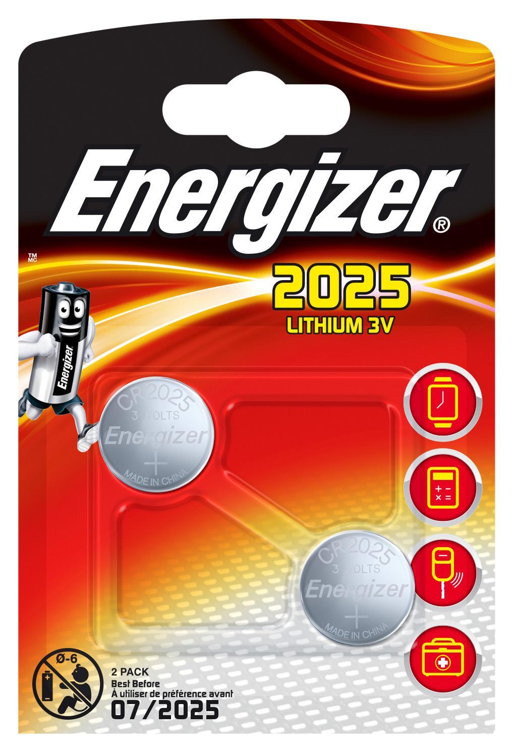 Energizer 638708 batteria per uso domestico Batteria monouso CR2025 Litio