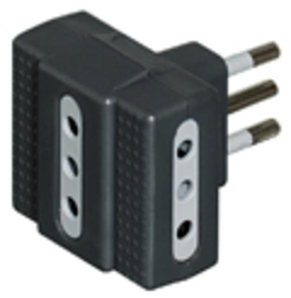 bticino S3603G adattatore per presa di corrente Antracite