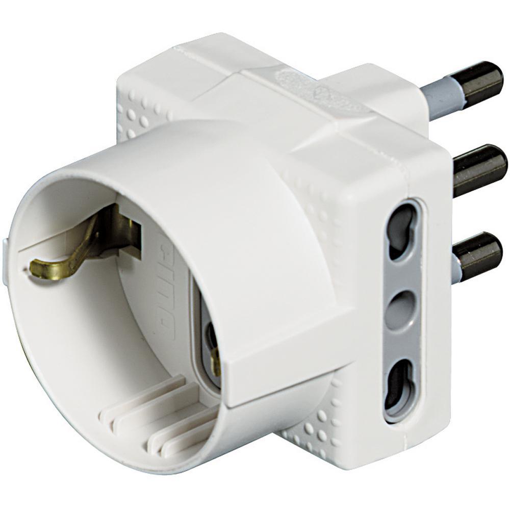 bticino S3611D adattatore per presa di corrente Tipo L (IT) Bianco
