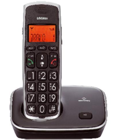 Brondi Bravo Gold Telefono DECT Nero Identificatore di chiamata