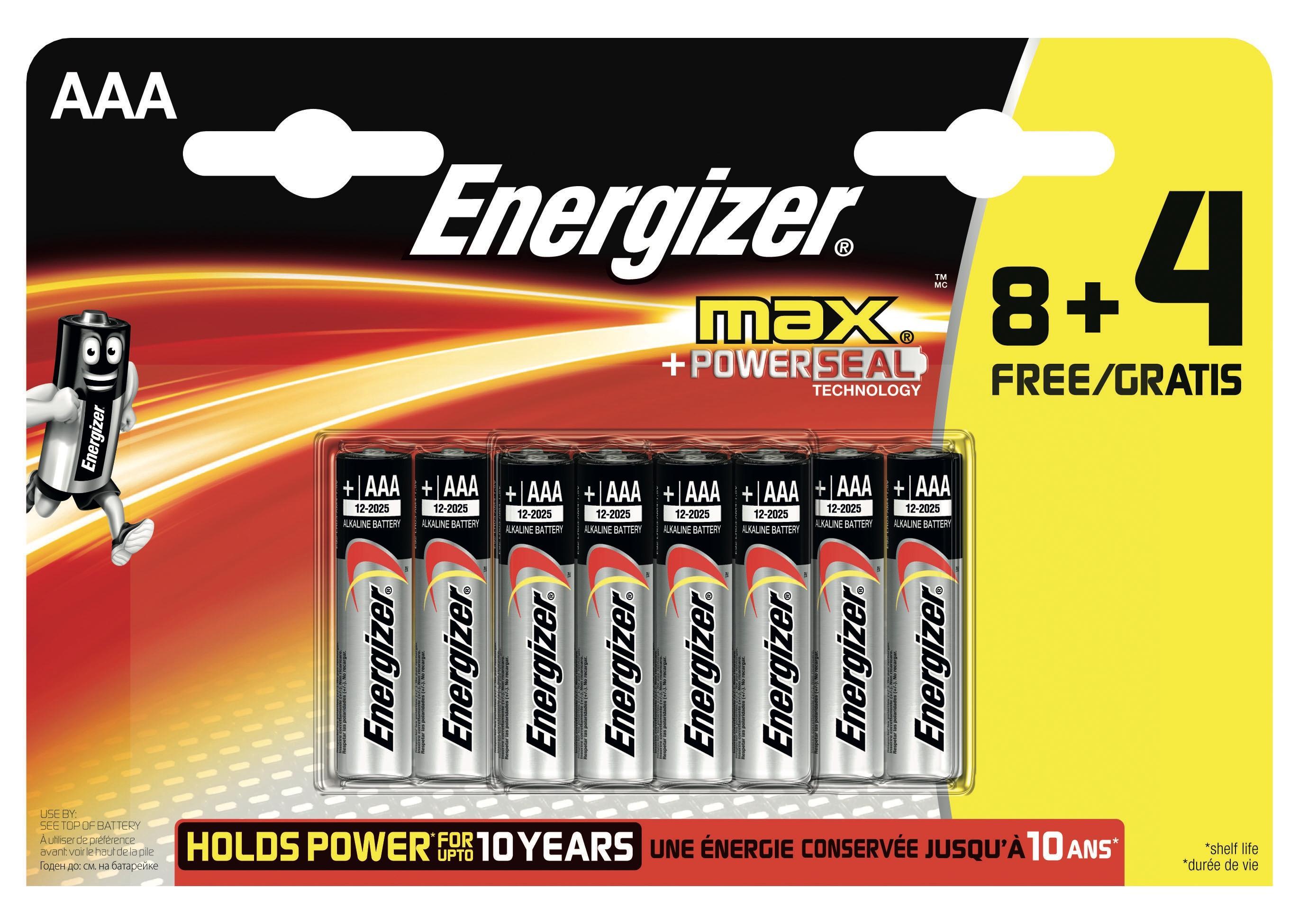 Energizer E300112200 batteria per uso domestico Batteria monouso Mini Stilo AAA Alcalino