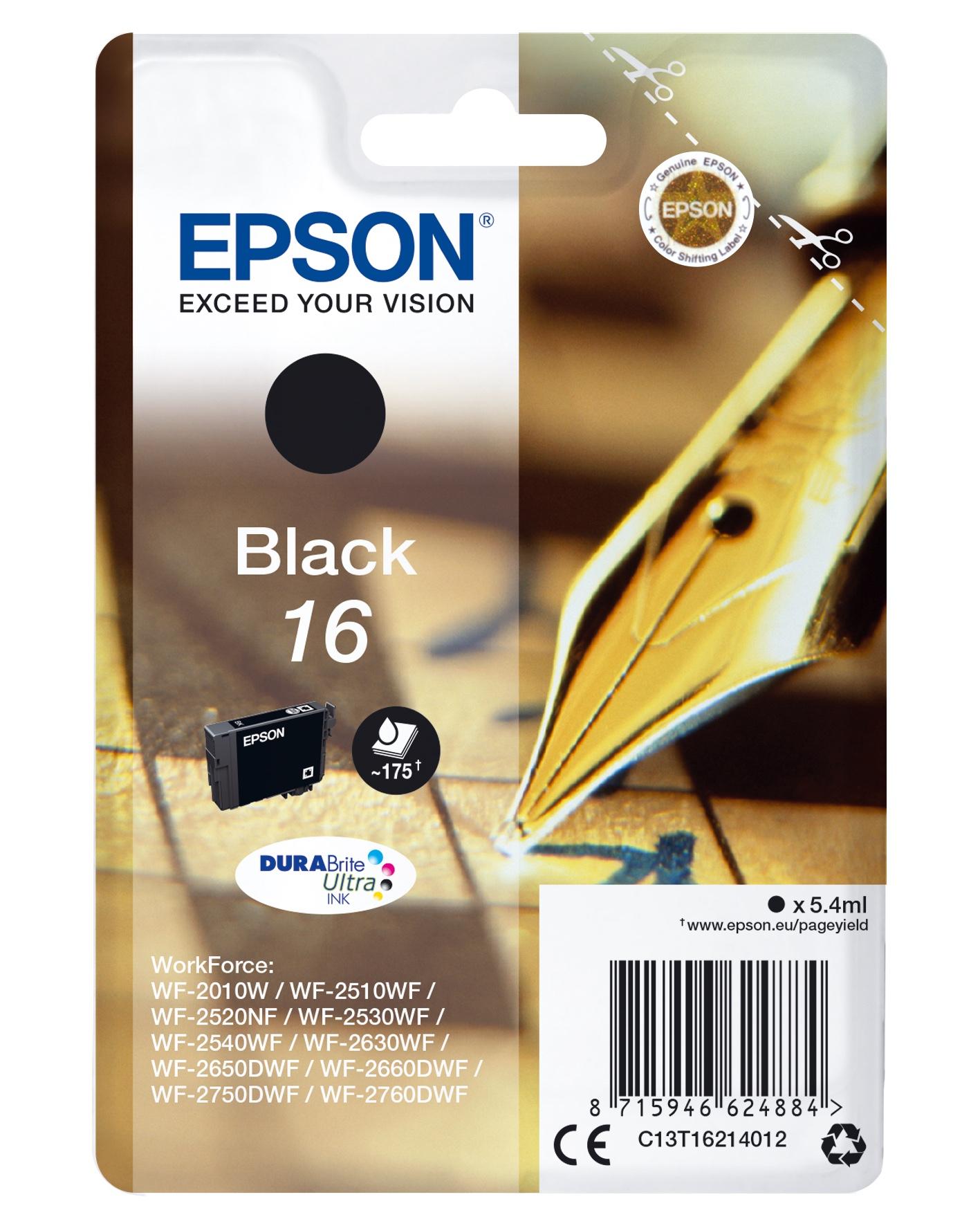Epson Pen and crossword Cartuccia Penna e cruciverba Nero Inchiostri DURABrite Ultra 16