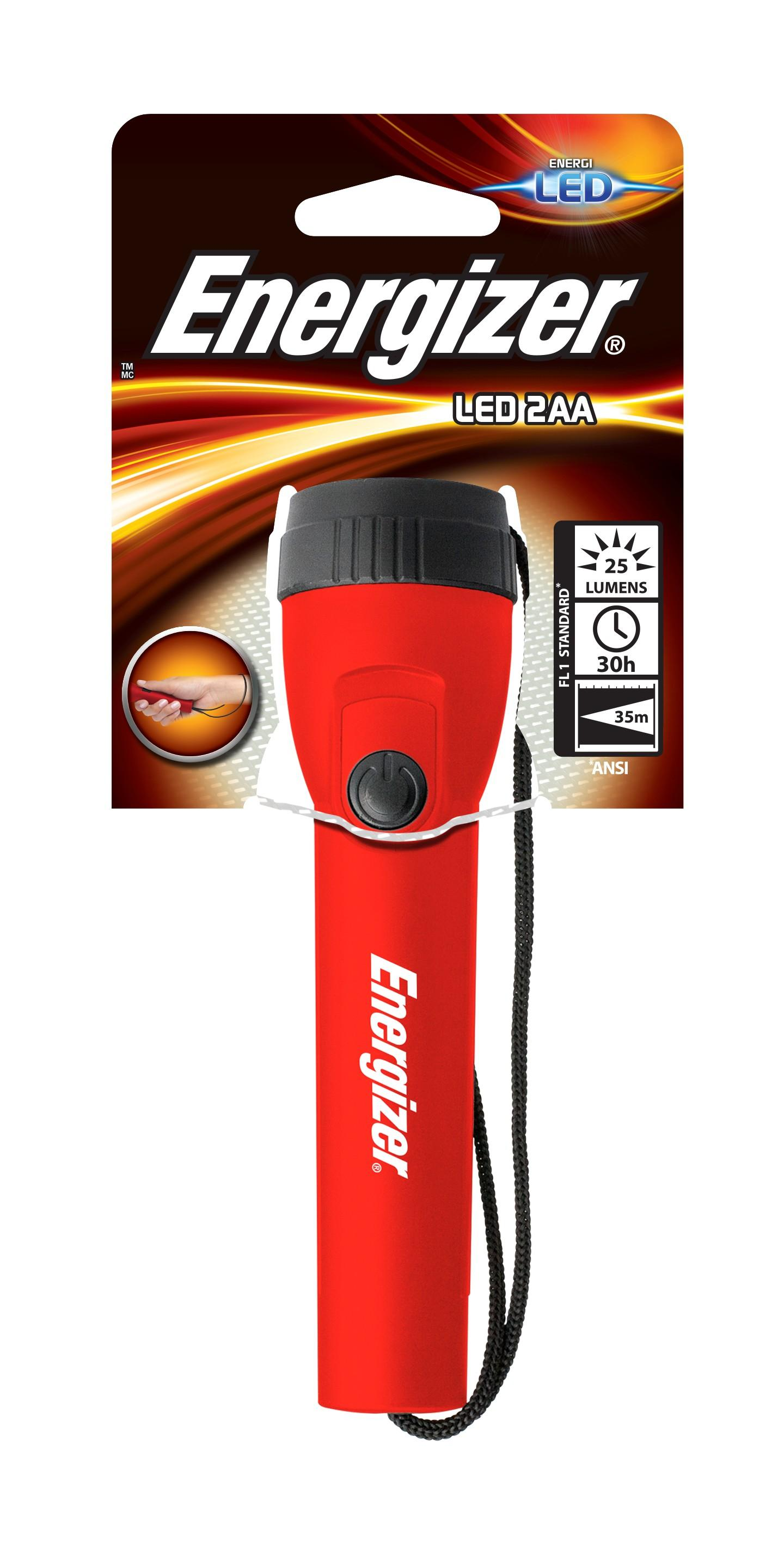 Energizer Light 2AA Rosso Torcia a mano LED
