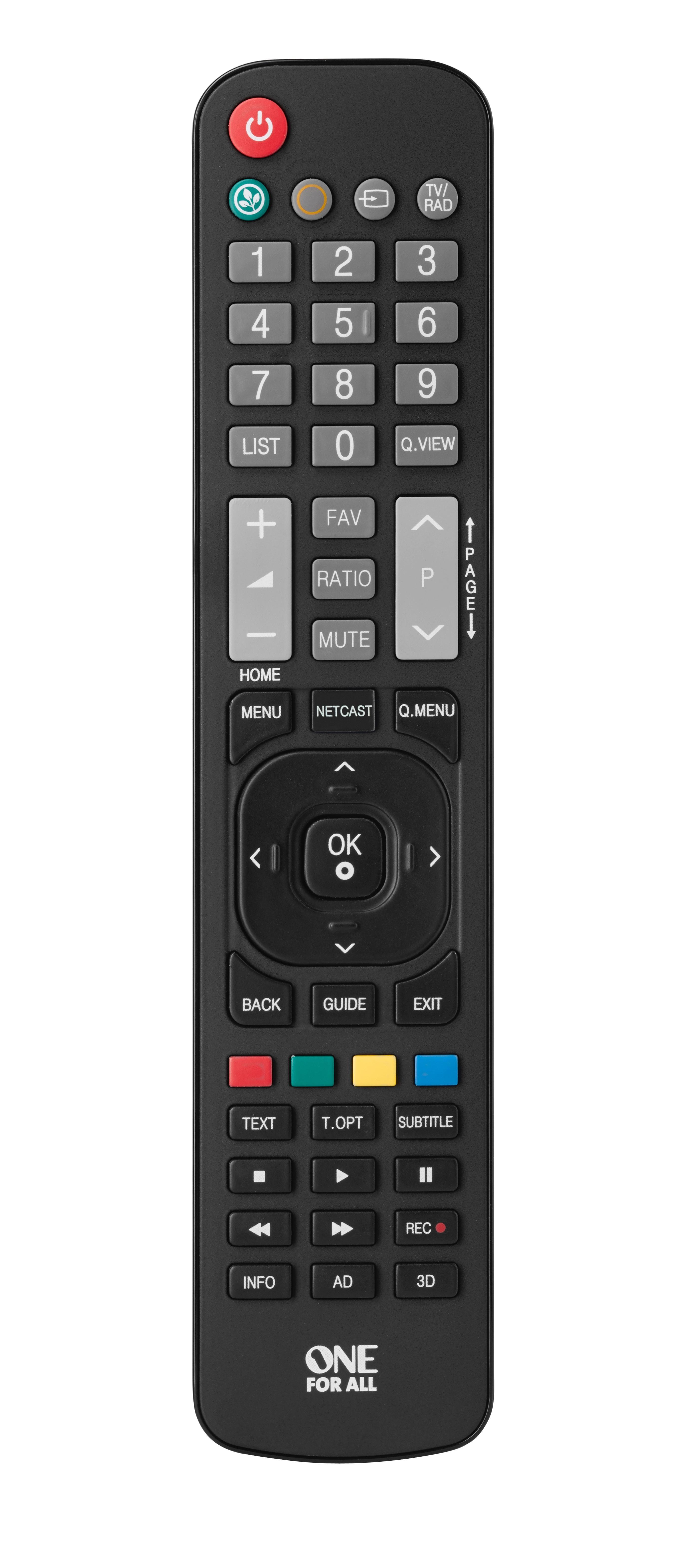 One For All URC 1911 telecomando IR Wireless TV Pulsanti