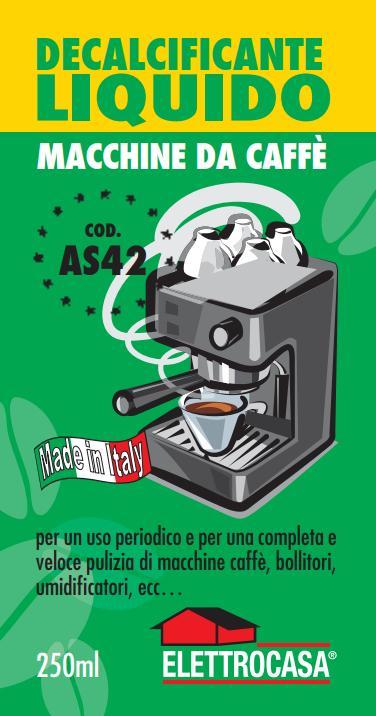 Elettrocasa AS42 Decalcificante Liquido per macchina da caffè