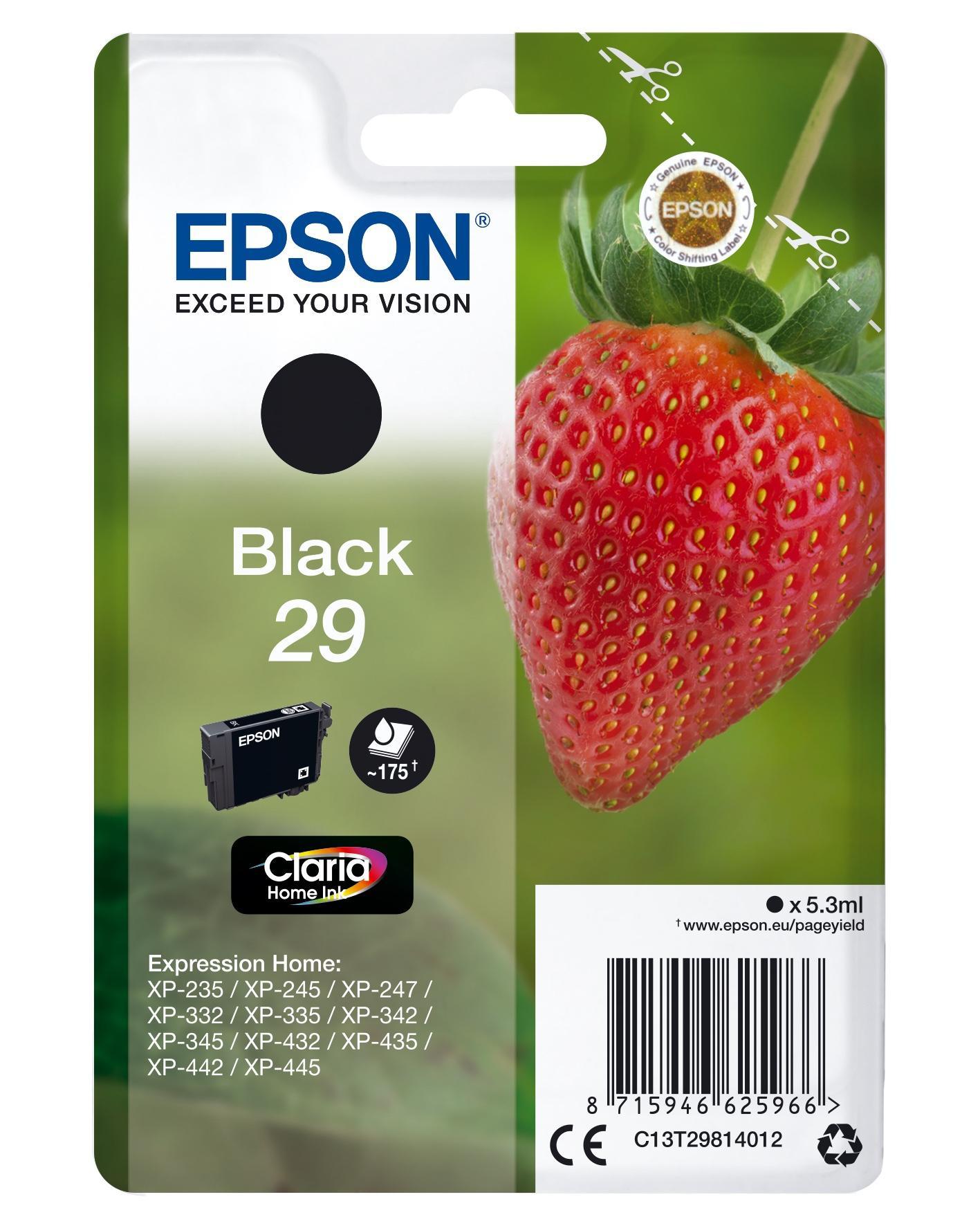 Epson Strawberry Cartuccia Fragole Nero Inchiostri Claria Home 29