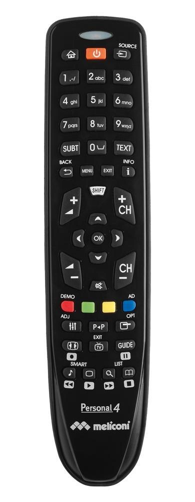 Meliconi Gumbody Personal 4 telecomando IR Wireless TV Pulsanti