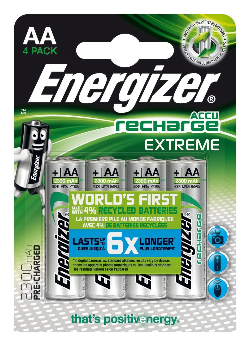 Energizer Accu Recharge Extreme 2300 AA BP4 Batteria ricaricabile Nichel-Metallo Idruro (NiMH)