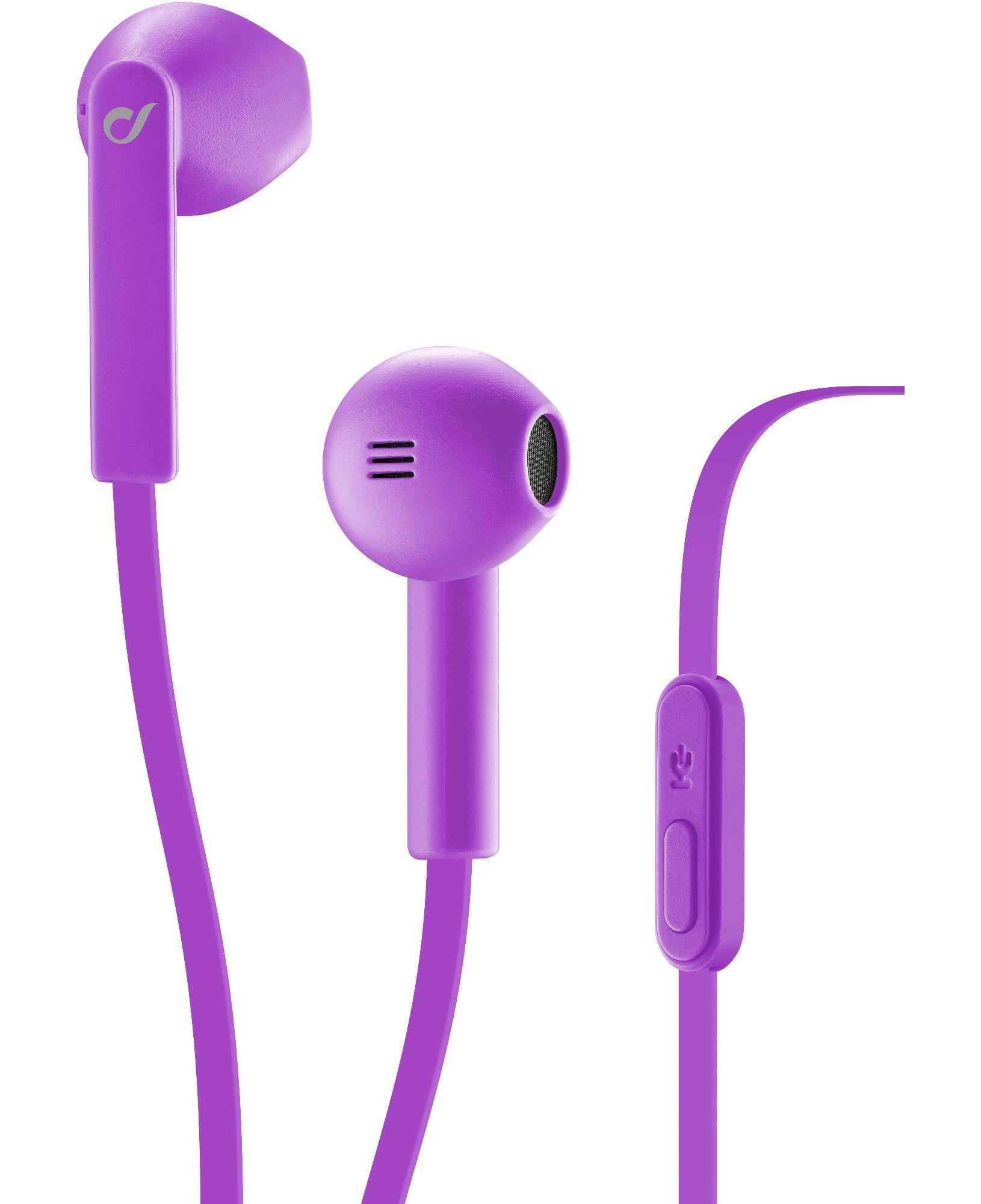 Cellularline Loud - Universale Auricolare a capsula ovale dal suono definito e potente Viola
