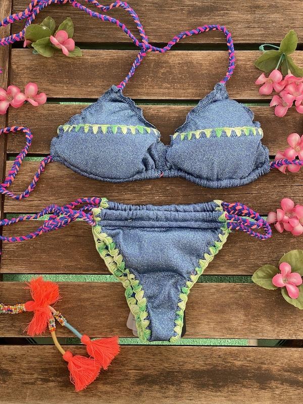 Bikini Triangolo slip Brasiliano laccetti regolabile Venture Effek