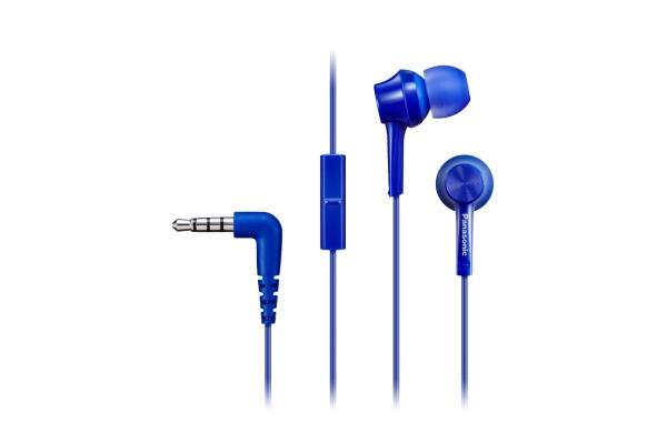 Panasonic RP-TCM115E Cuffia Auricolare Connettore 3.5 mm Blu