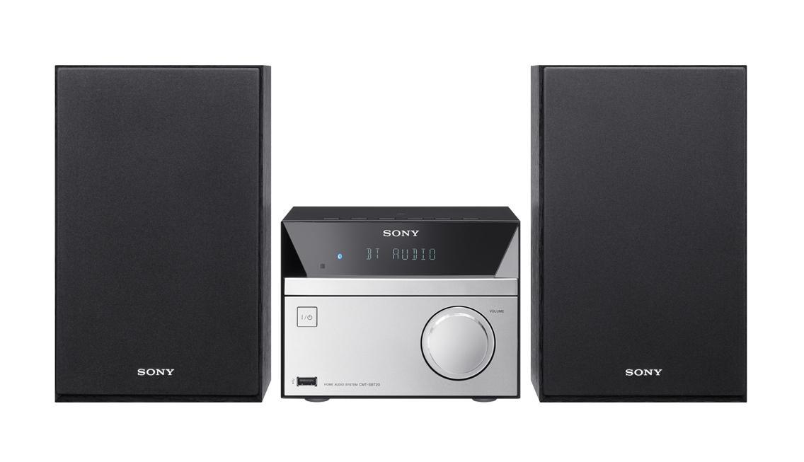 Sony CMT-SBT20B 12 W Nero, Argento