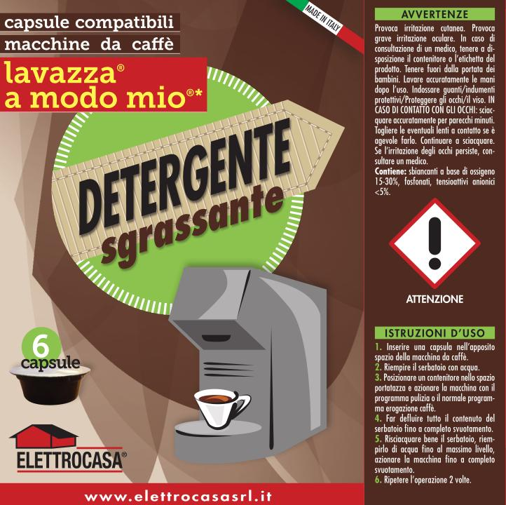 Elettrocasa AS48 Detergente sgrassante per macchina da caffè Lavazza A modo mio