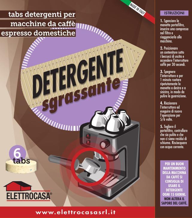 Elettrocasa AS 49 Detergente Sgrassante per macchina da caffè espresso manuale