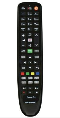 Meliconi Personal 5 Plus telecomando IR Wireless TV Pulsanti