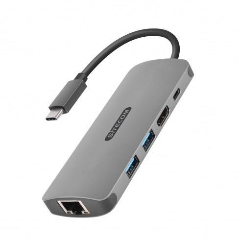 Sitecom CN-379 adattatore grafico USB 3840 x 2160 Pixel Grigio