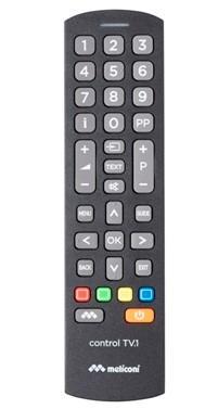 Meliconi Control TV.1 telecomando IR Wireless Pulsanti