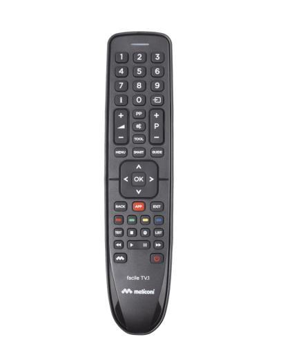Meliconi FACILE TV.1 telecomando IR Wireless Pulsanti