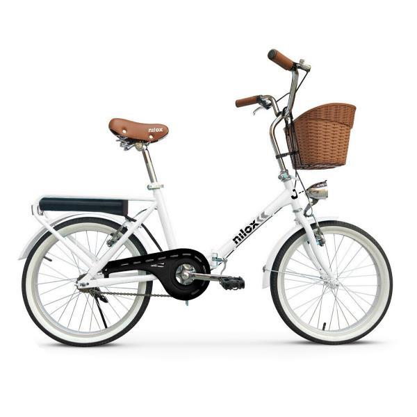 E-Bike Nilox J1 Nero, Bianco Acciaio 50,8 cm (20