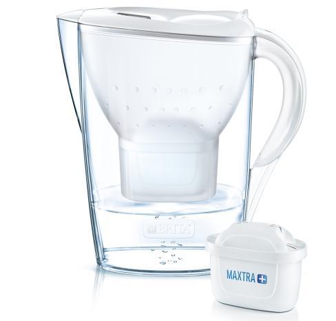 Brita 1039164 Filtraggio acqua Caraffa filtrante 2,4 L Trasparente, Bianco