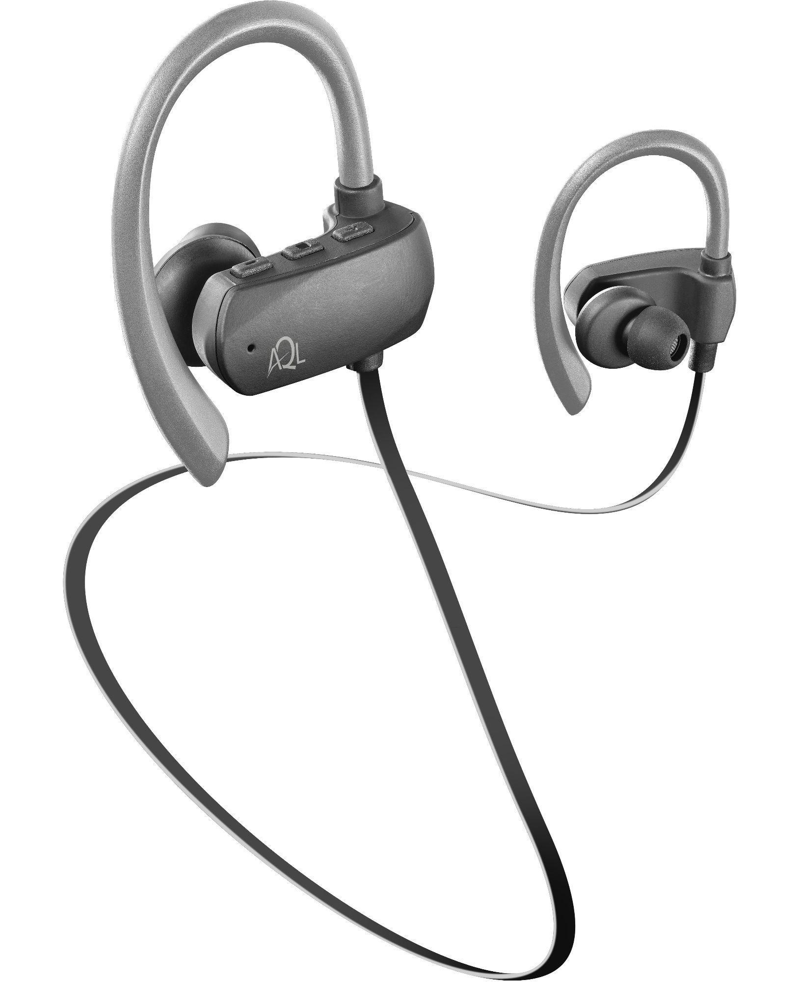 AQL Sport Bounce - Universale Auricolari stereo Bluetooth in-ear ultra stabili ideali per lo sport Grigio