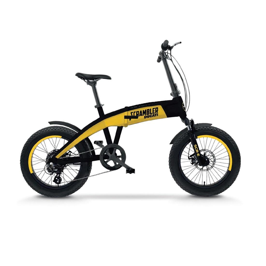 E-Bike Ducati Scrambler SCR-E Nero, Giallo Alluminio 50,8 cm (20
