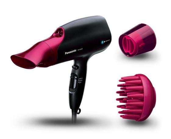 Panasonic EH-NA65, tecnologia Nanoe, protezione/idratazione capelli, 2000 W, Nero/Fucsia