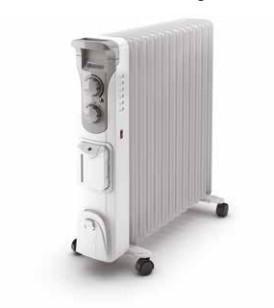 Olimpia Splendid Humi 13 Interno Bianco 2500 W Riscaldatore ambiente elettrico a olio