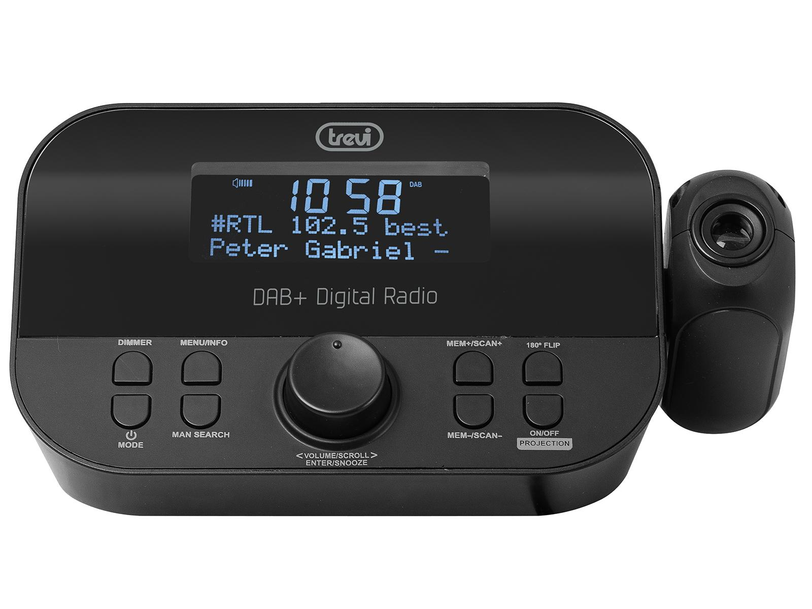 Trevi RC 85D8 DAB Sveglia digitale Nero