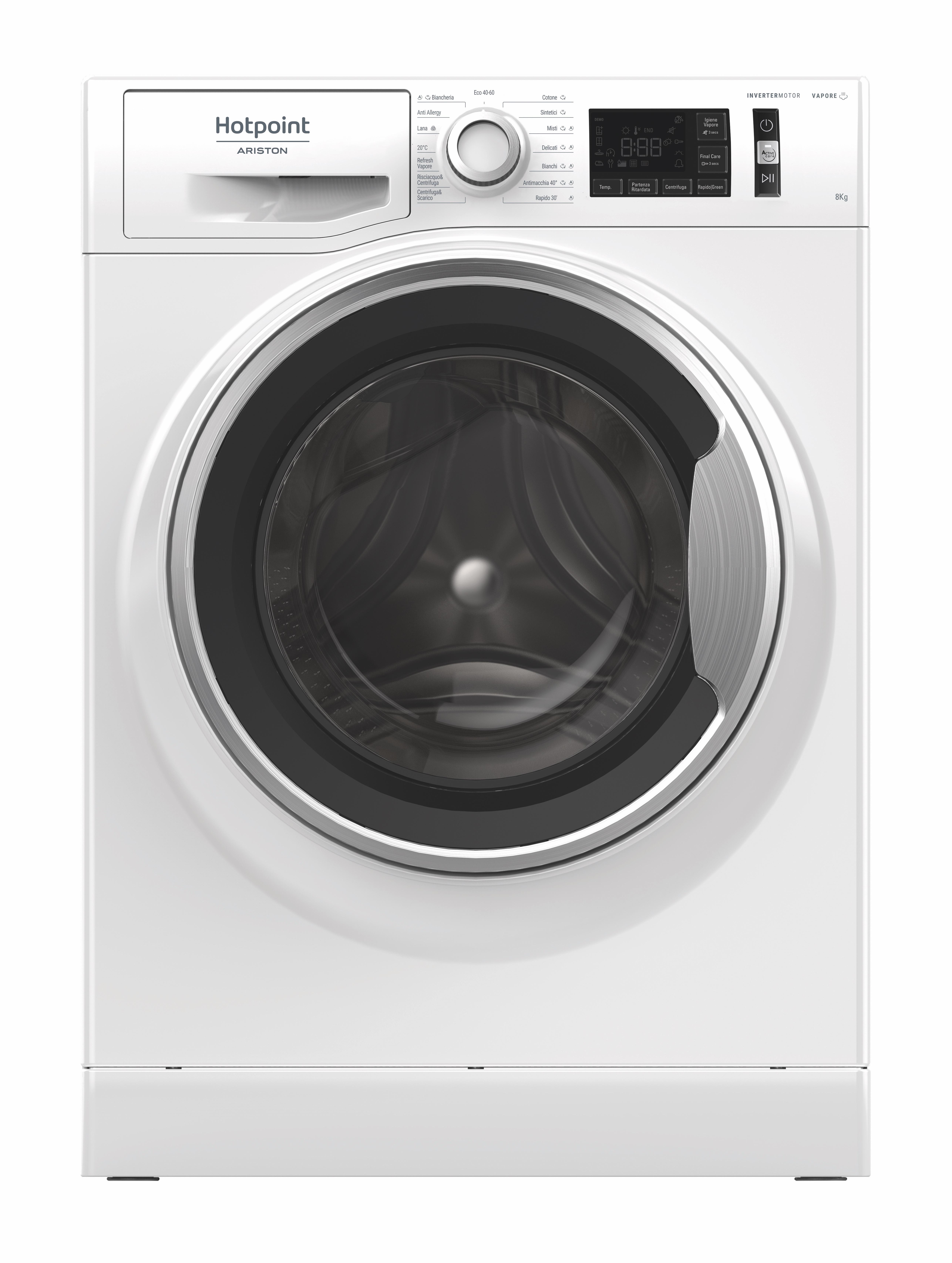 Hotpoint NR548GWSA IT N lavatrice Libera installazione Caricamento frontale 8 kg 1400 Giri/min B Bianco