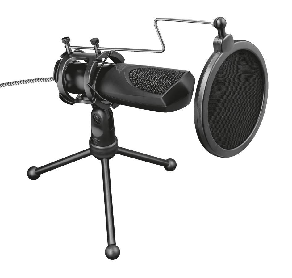 Trust GXT 232 Mantis Nero Microfono per PC
