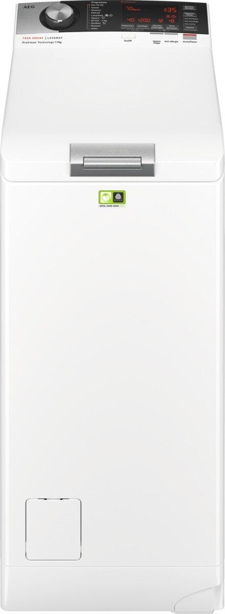 AEG L7TBC735 lavatrice Libera installazione Caricamento dall'alto 7 kg 1300 Giri/min D Bianco