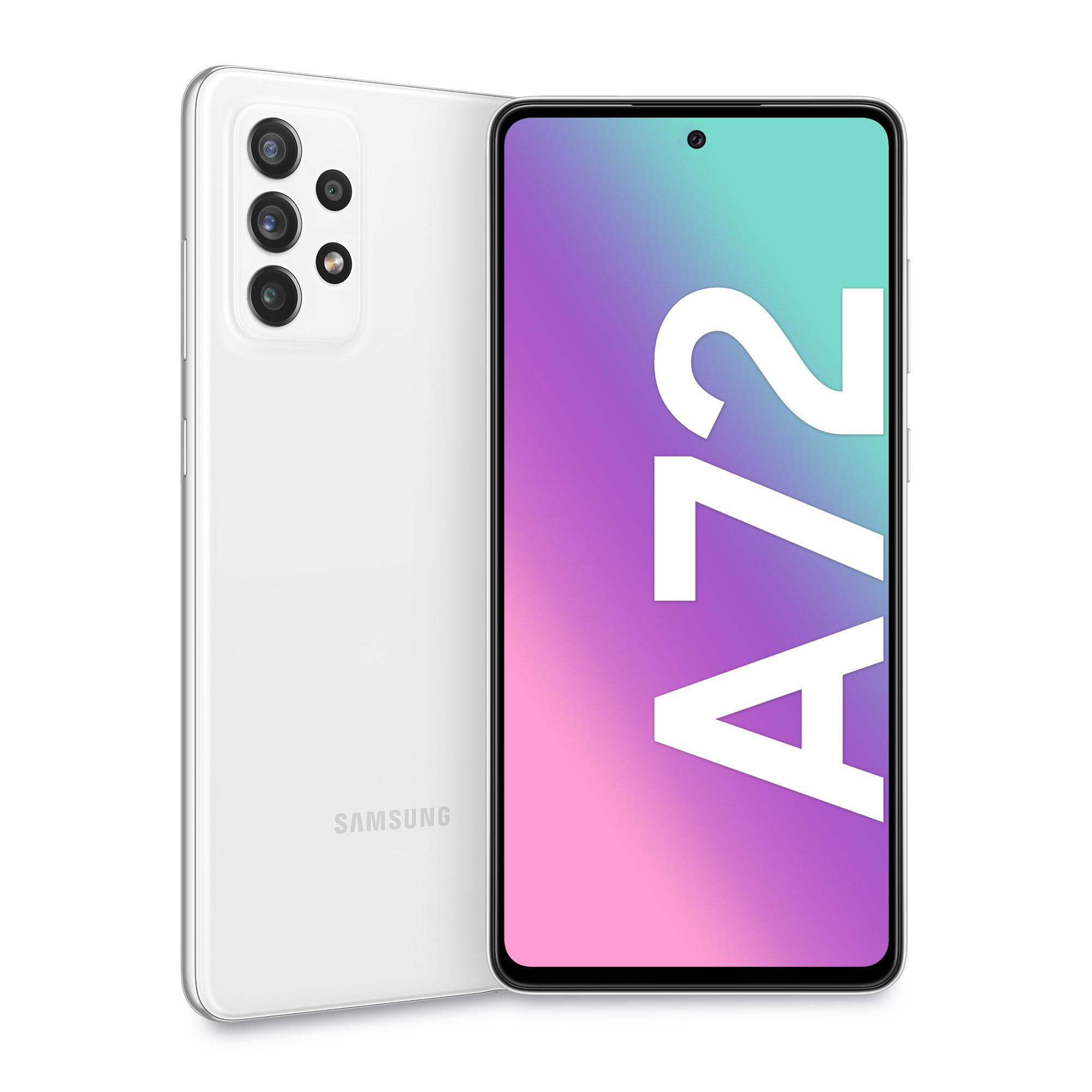 "Samsung Galaxy A72 128 GB Display 6.7"" FHD+ Super AMOLED Awesome White"