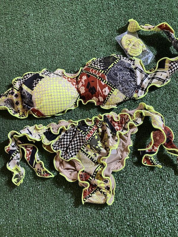 Bikini fascia e slip nodi brasiliano regolabile Frou Frou Desert