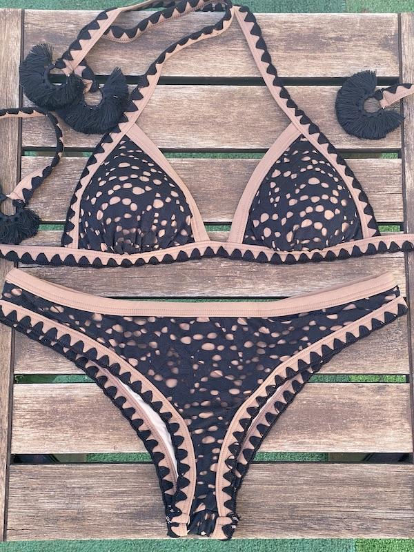 Bikini Triangolo e slip fianco fisso Desert Effek
