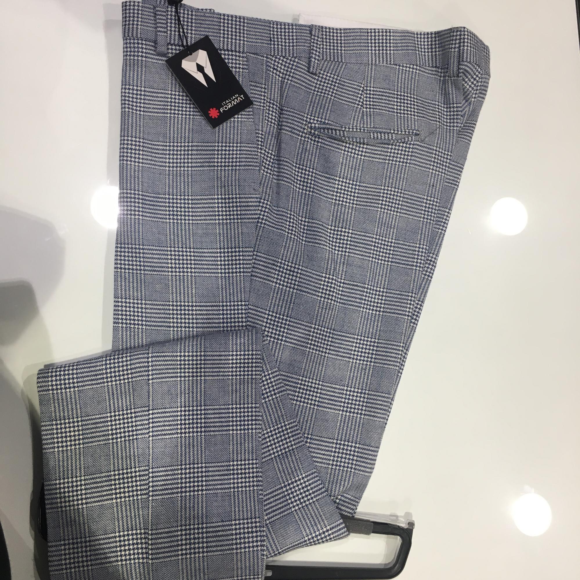 Pantalone uomo lord Galles misto lino e cotone