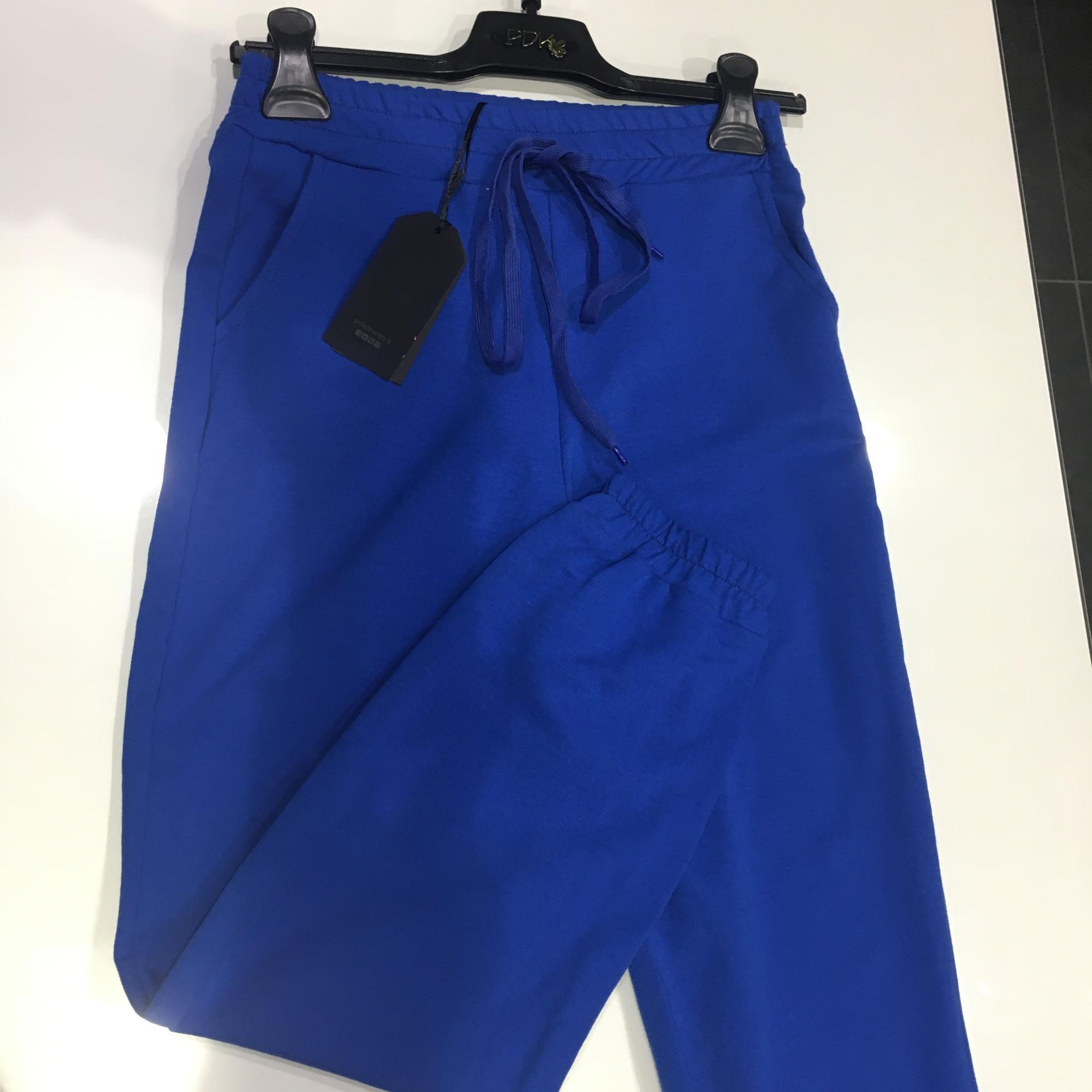 Pantalone con laccio color royal pdk