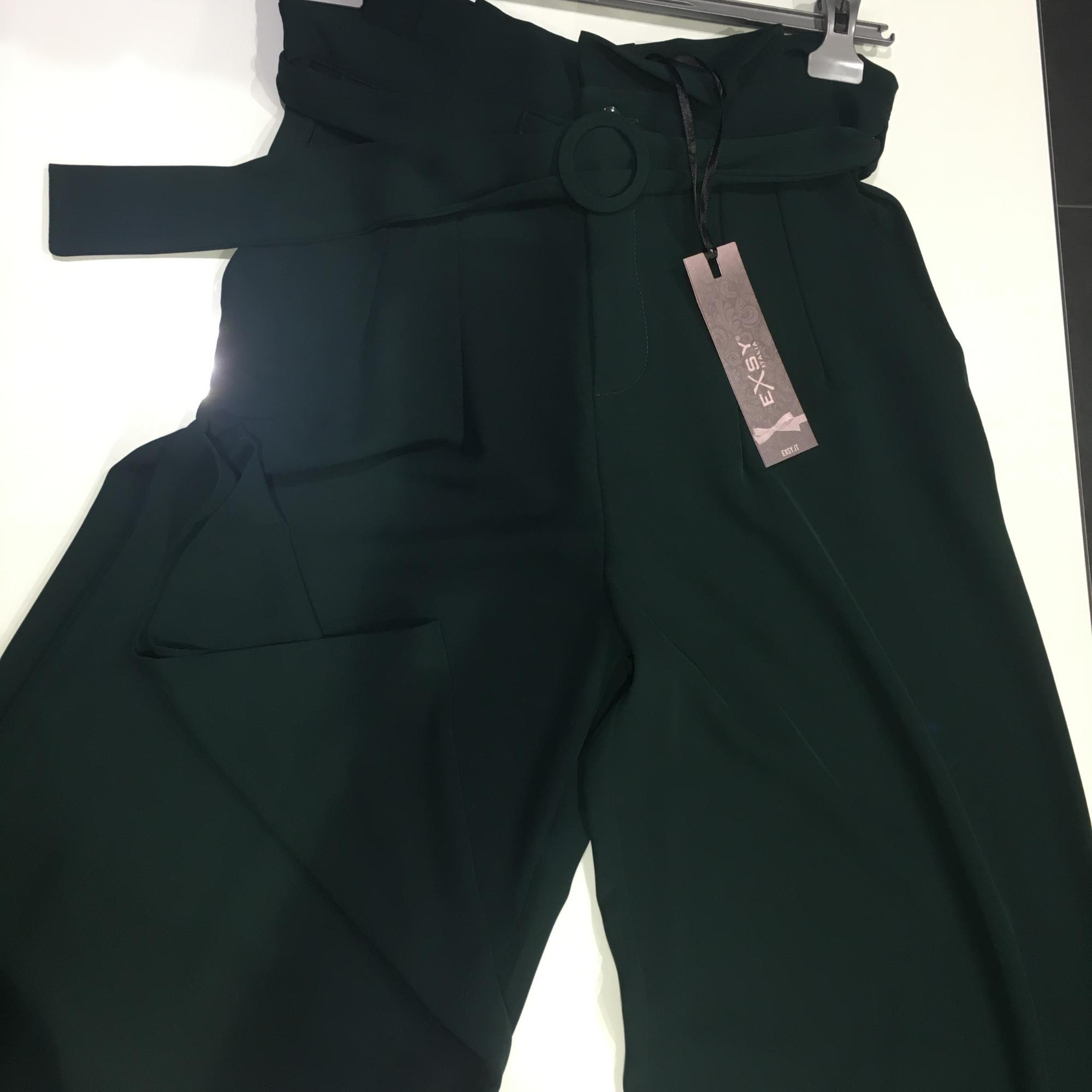 Pantalone Cady palazzo donna color verde