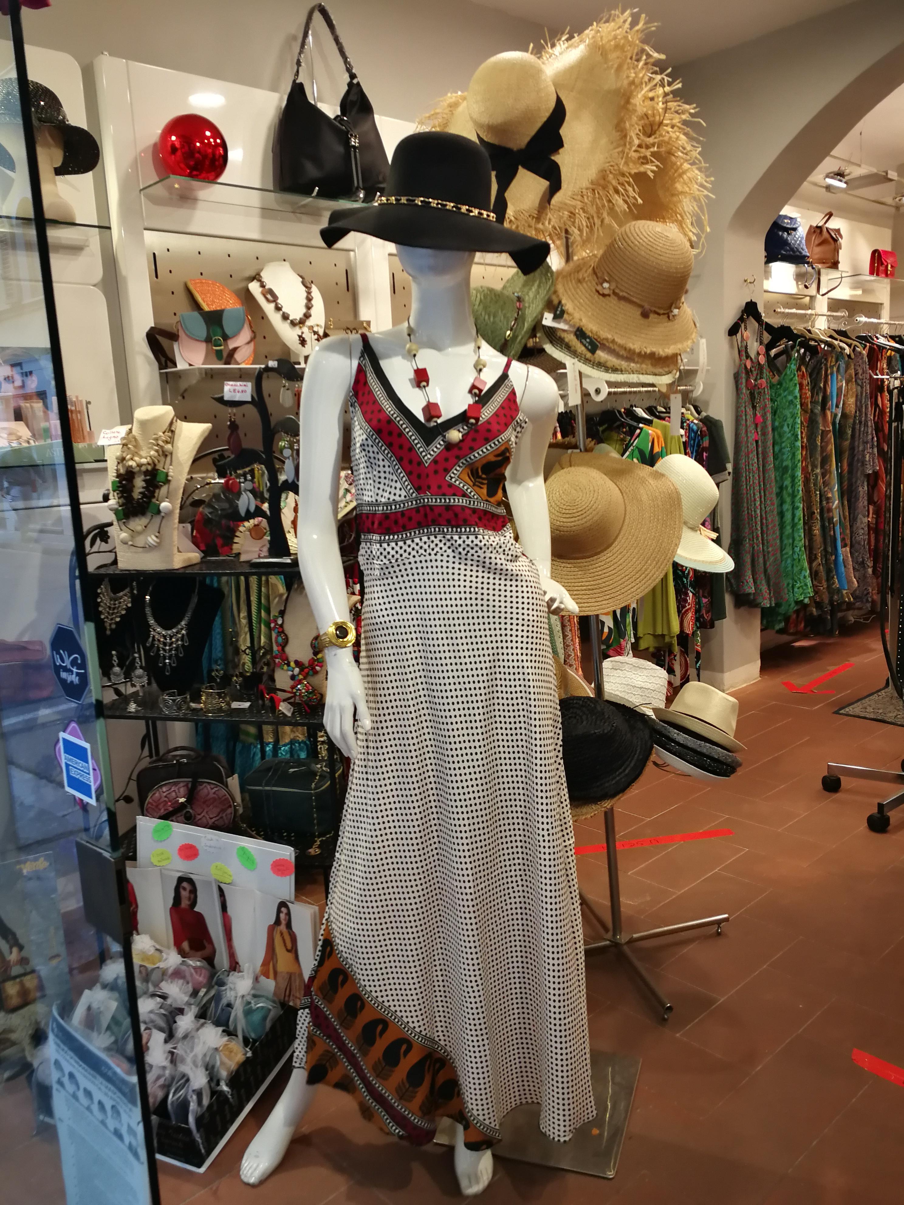 Long straight sleeveless dress