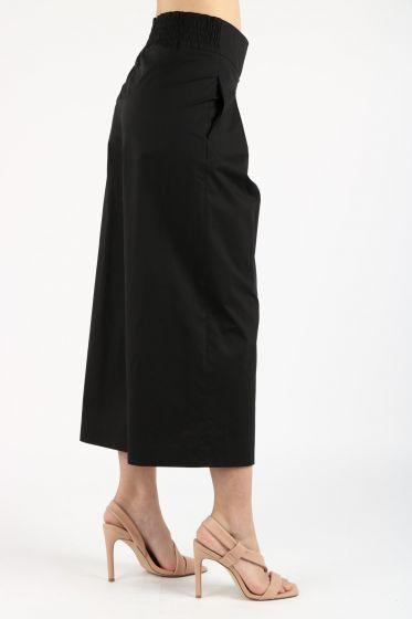Pantalone Teso 4 cropped ampio nero Pinko