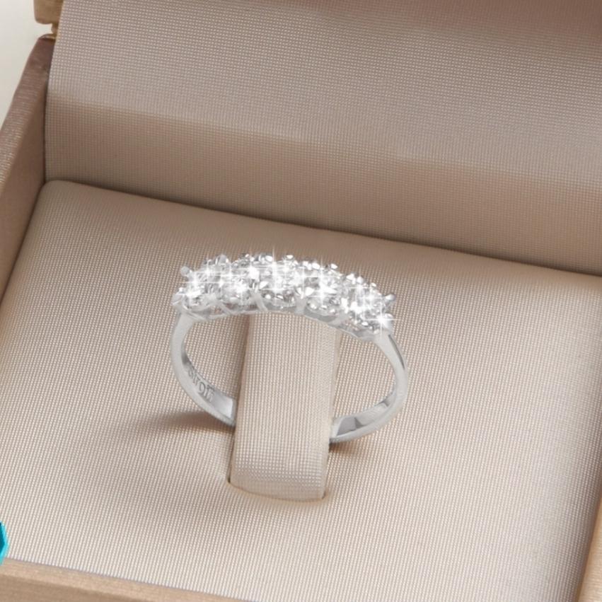 Anello veretta diamanti